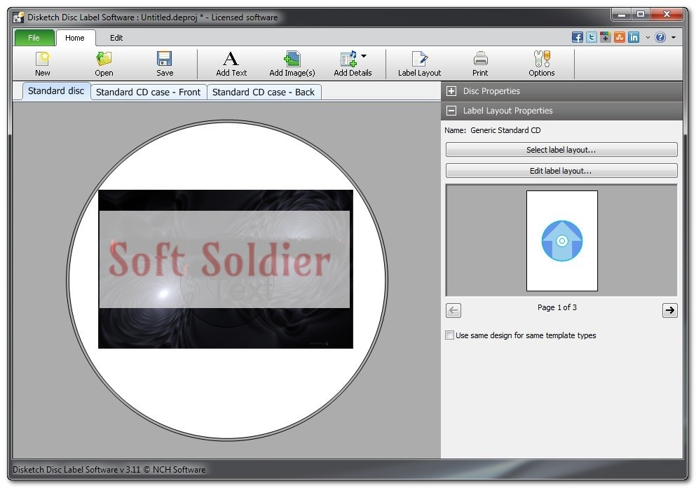 Disketch Disc Label Software Plus Download free