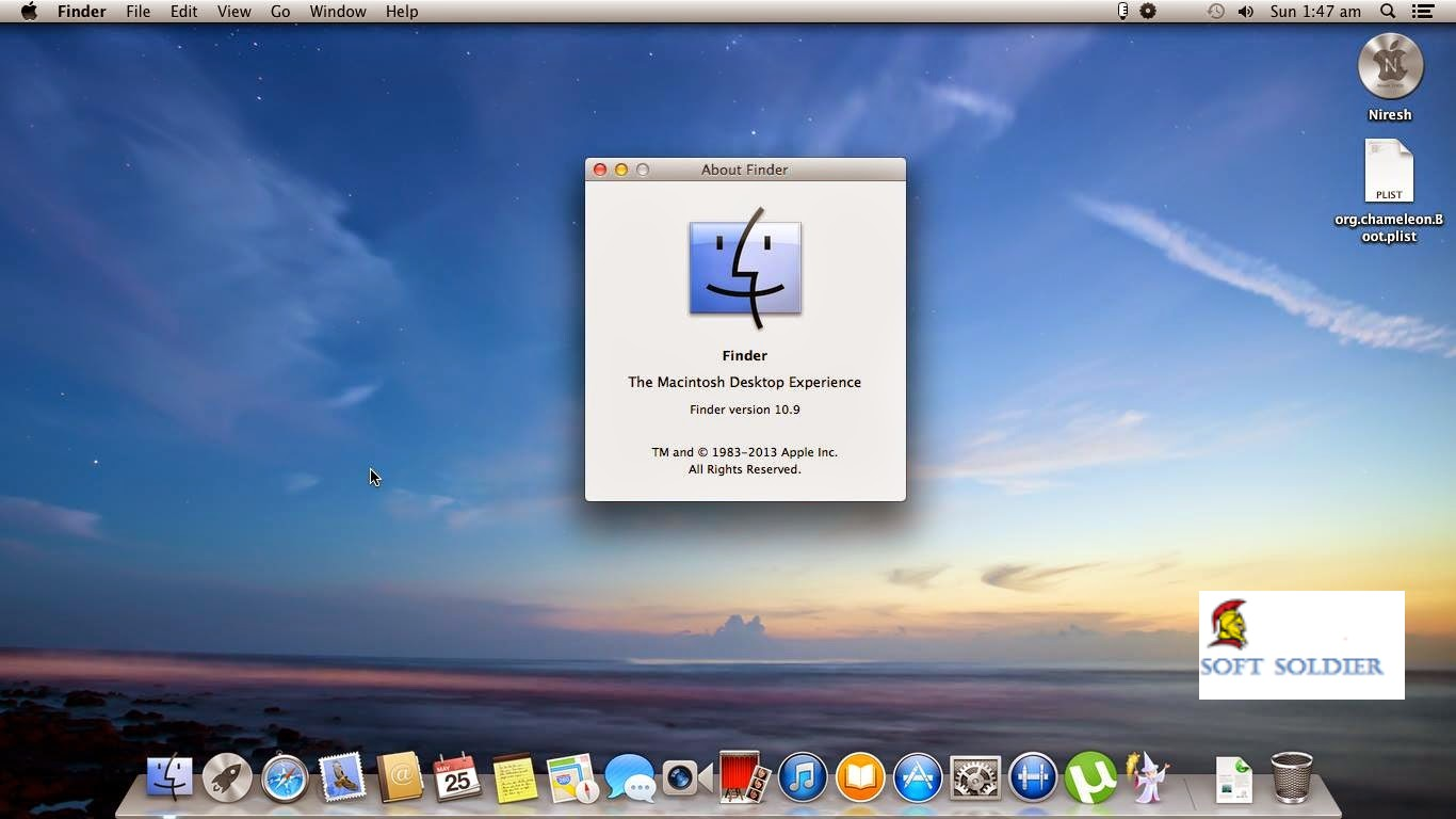 Niresh Mac OS X Mavericks 10.9.0 DVD ISO