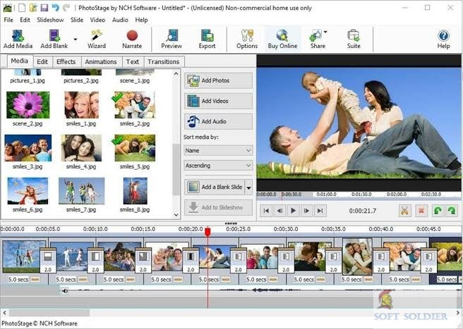 NCH PhotoStage Photo Slideshow Maker Professional