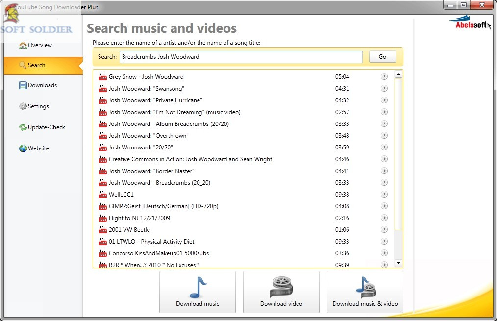 Abelssoft YouTube Song Downloader 2019