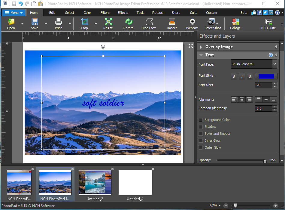 NCH PhotoPad Image Editor Professional 6.13 Beta