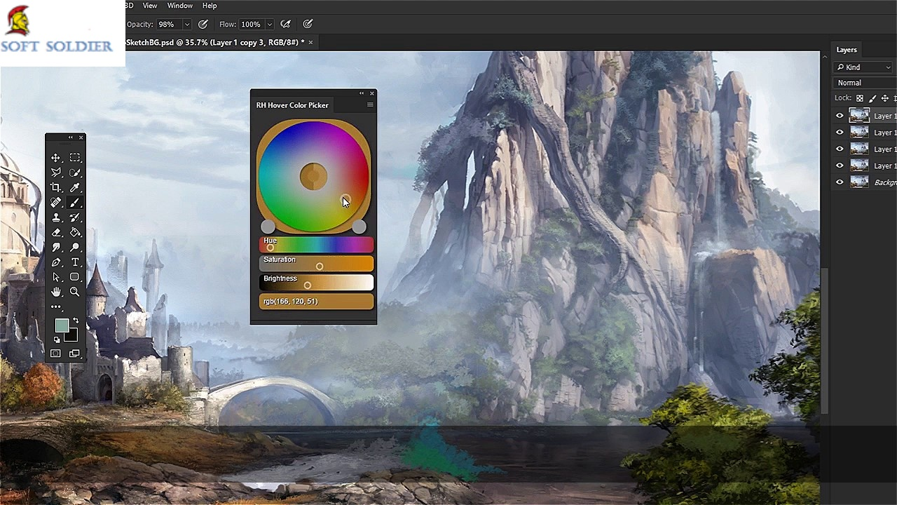 RH Hover Color Picker Plugin for Photoshop