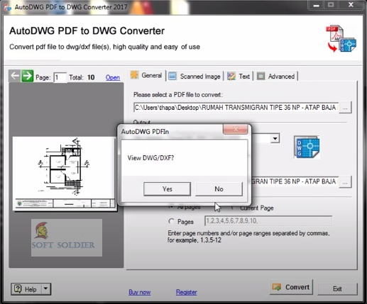 AutoDWG PDF to DWG Converter 2020 Free Download