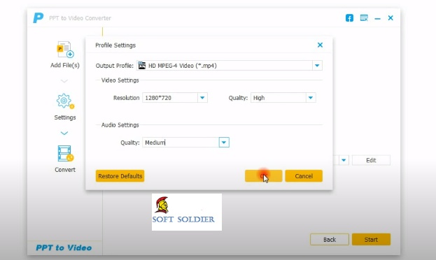 Aiseesoft PPT to Video Converter Free