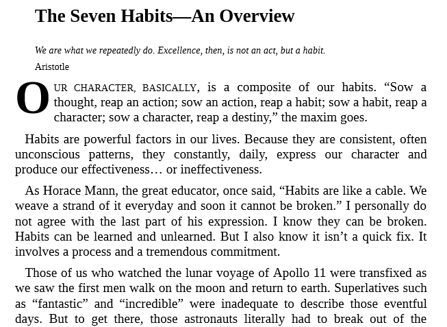 The 7 Habits of Highly Effective People by Stephen. R. Covey PDF