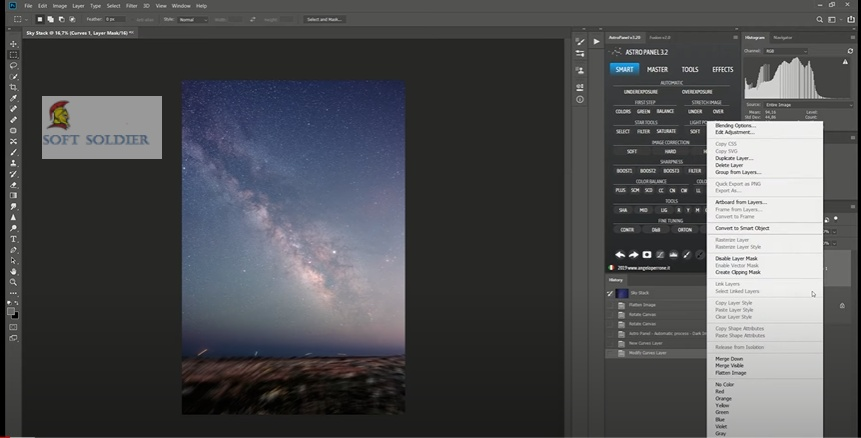 Astro Panel for Adobe Photoshop 5 Free