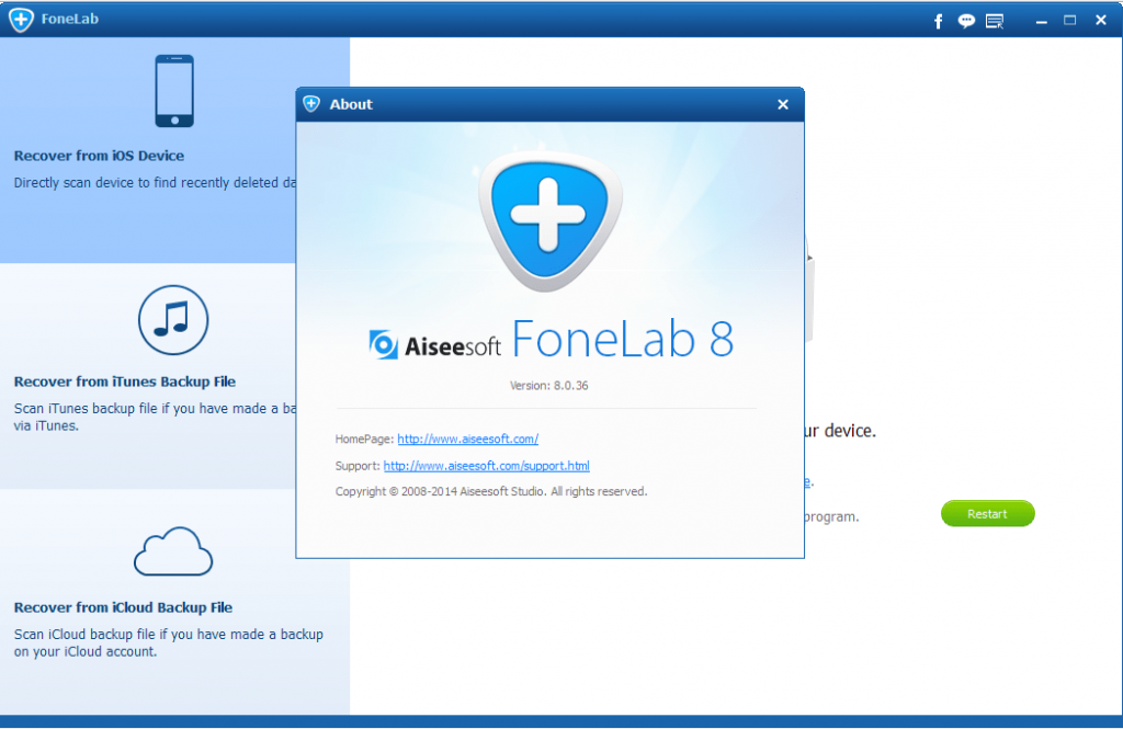 Aiseesoft FoneLab 10 for IOS