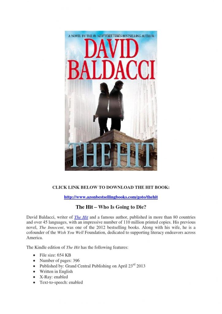 The Hit by David Baldacci PDF