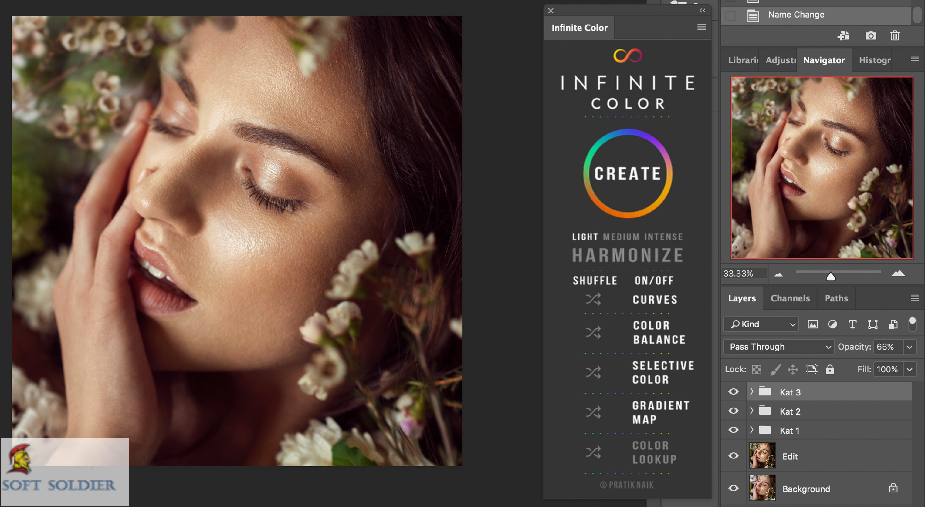 Infinite Color Panel Plug-in for Photoshop