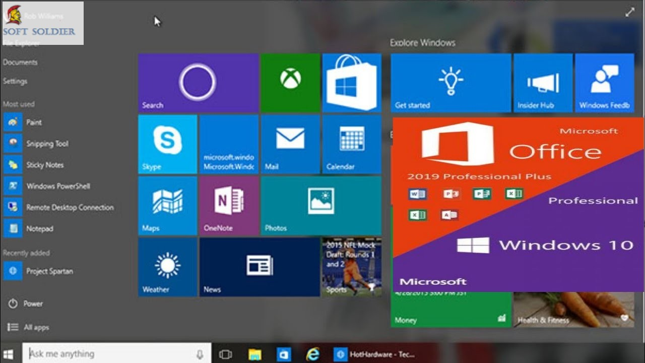 Windows 10 Pro RS5 with Office 2019