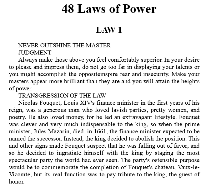 The 48 Laws of Power by Robert Greene PDF